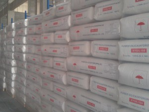 XYSIL fumed silica pallets in warehouse